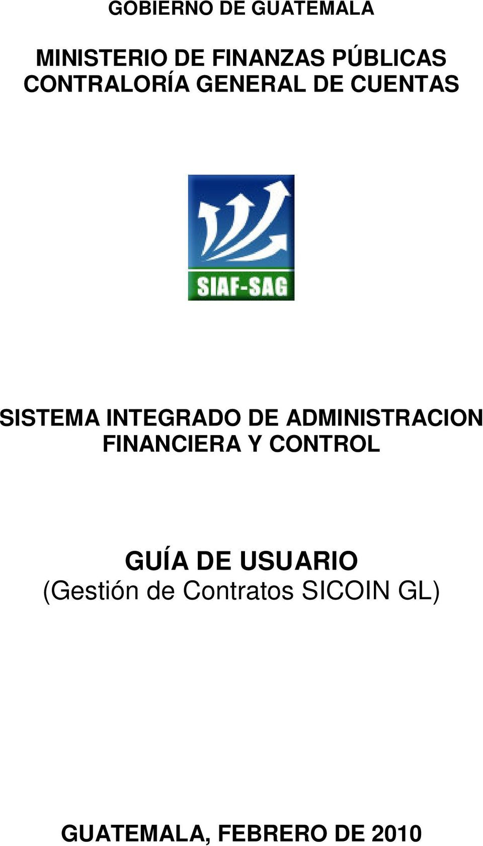 SISTEMA INTEGRADO DE ADMINISTRACION FINANCIERA