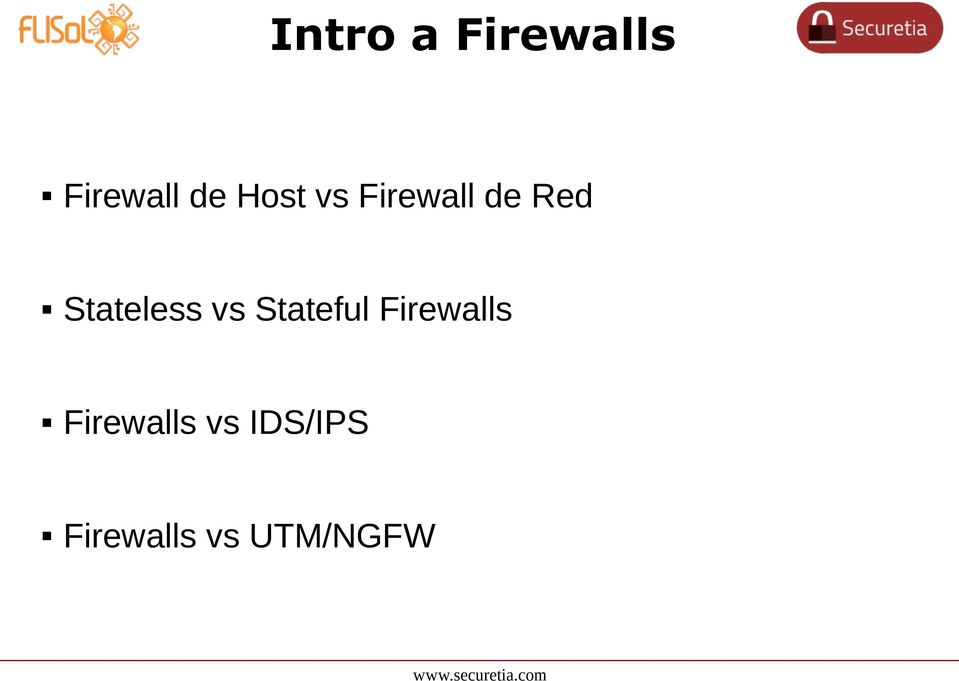 Stateless vs Stateful Firewalls