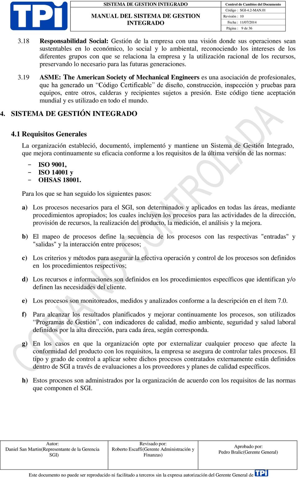 Manual del sistema de gesti n integrado sgi 4 2 pdf for Manual de diseno y construccion de albercas pdf