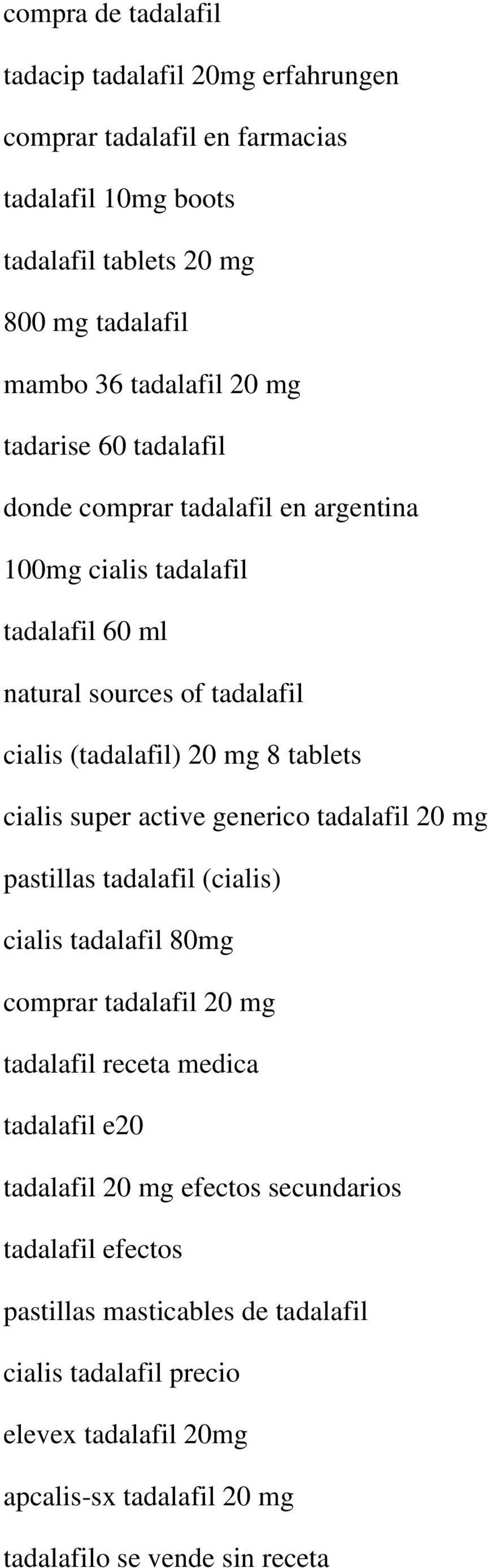 Side effects cialis 20 mg