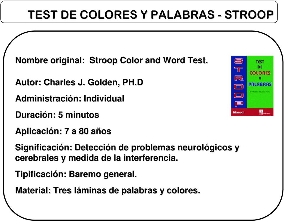 stroop assignment Lab exercise #2 – stroop test psyc 393 – spring 2018 • stroop (1935) written assignment.