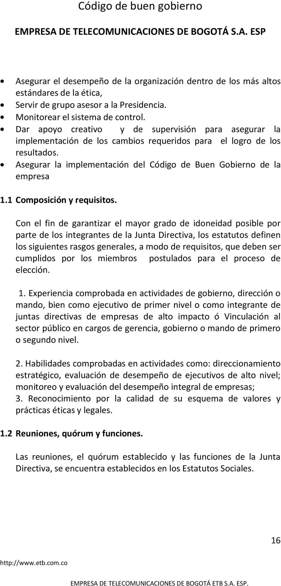 1 Composición y requisitos.