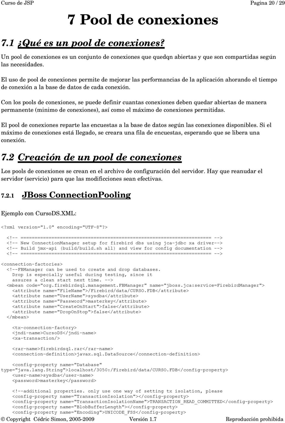 Curso de Java Server Pages Nivel Avanzado Manual del alumno <JSP> - PDF