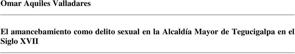 sexual en la Alcaldía Mayor