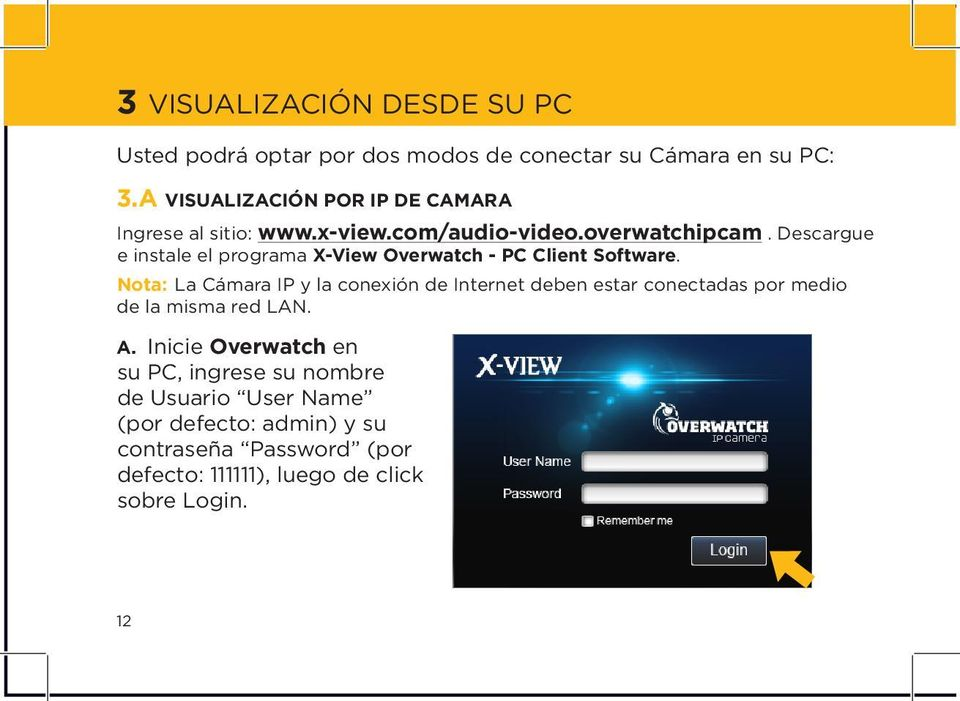 Descargue e instale el programa X-View Overwatch - PC Client Software.