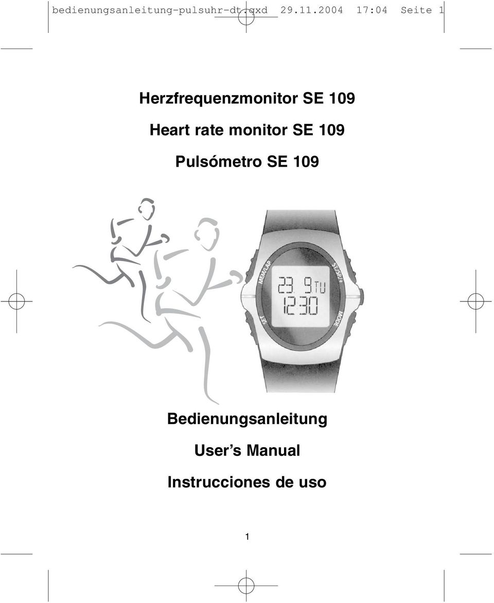 Heart rate monitor SE 109 Pulsómetro SE 109