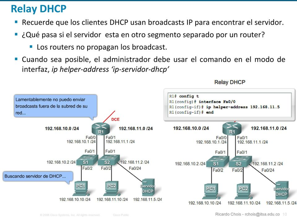 Los routers no propagan los broadcast.