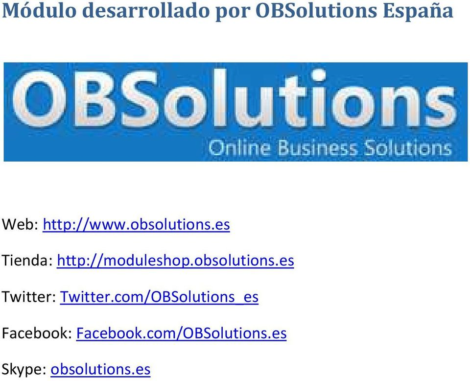 obsolutions.es Twitter: Twitter.