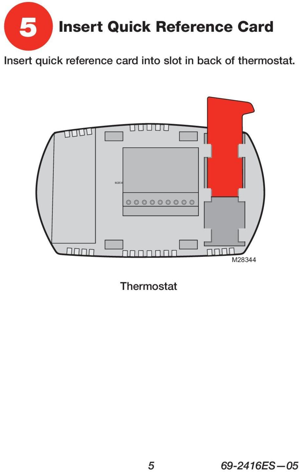 slot in back of thermostat.