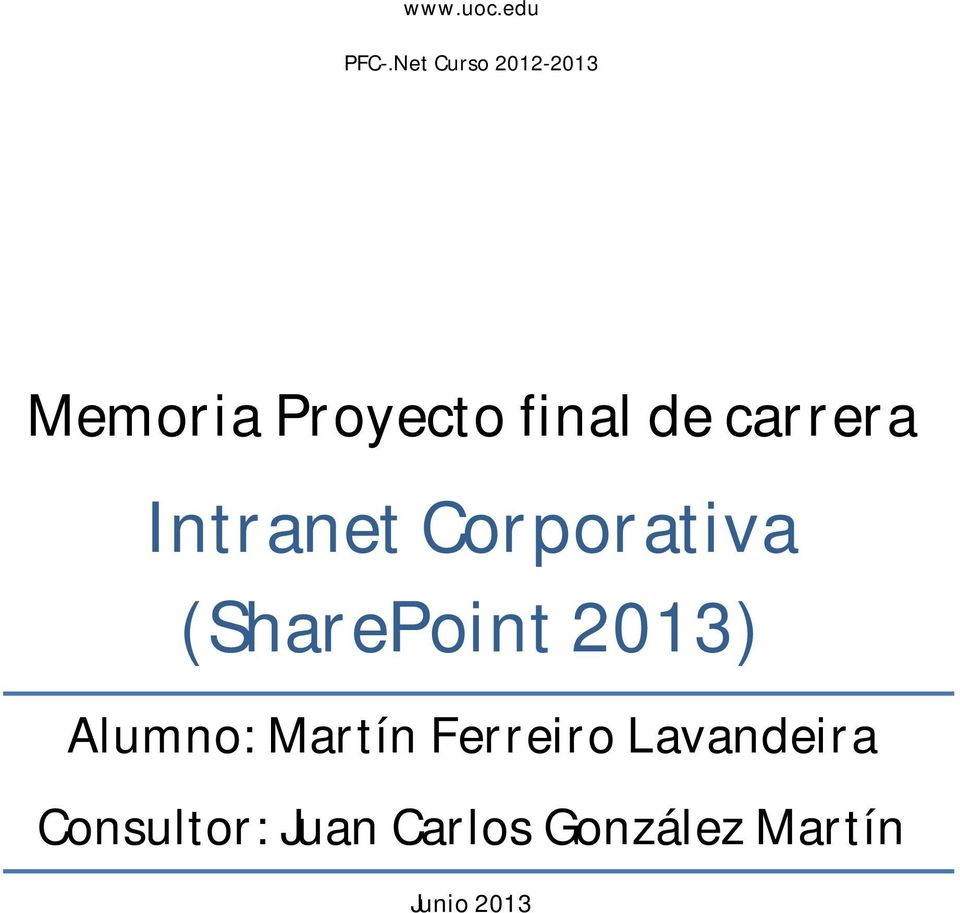 carrera Intranet Corporativa