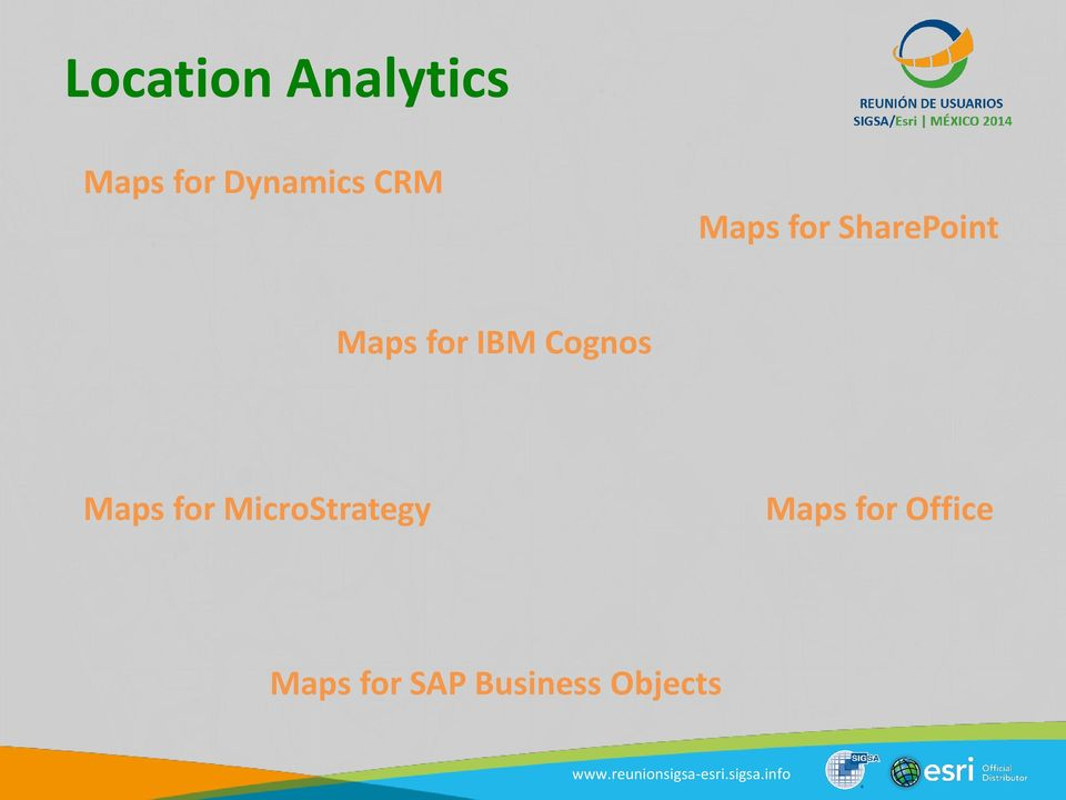 Cognos Maps for MicroStrategy Maps