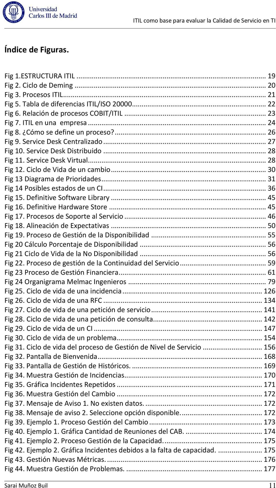 Ciclo de Vida de un cambio... 30 Fig 13 Diagrama de Prioridades... 31 Fig 14 Posibles estados de un CI... 36 Fig 15. Definitive Software Library... 45 Fig 16. Definitive Hardware Store... 45 Fig 17.