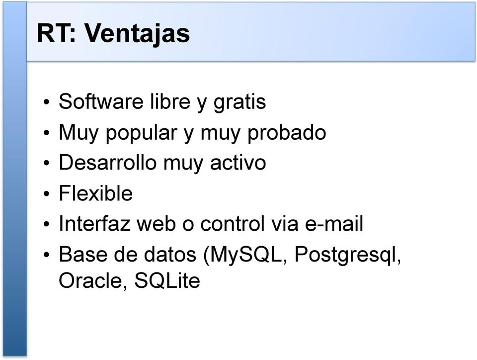 Flexible Interfaz web o control via e-mail
