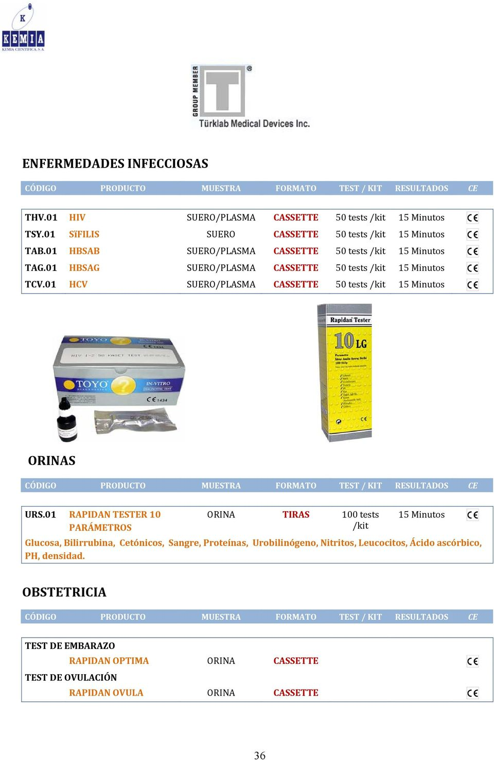 01 HCV SUERO/PLASMA CASSETTE 50 tests /kit 15 Minutos ORINAS URS.