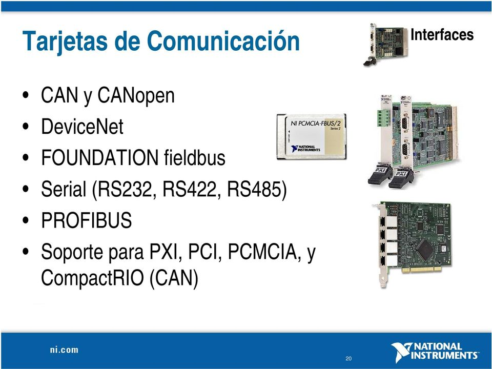 Serial (RS232, RS422, RS485) PROFIBUS