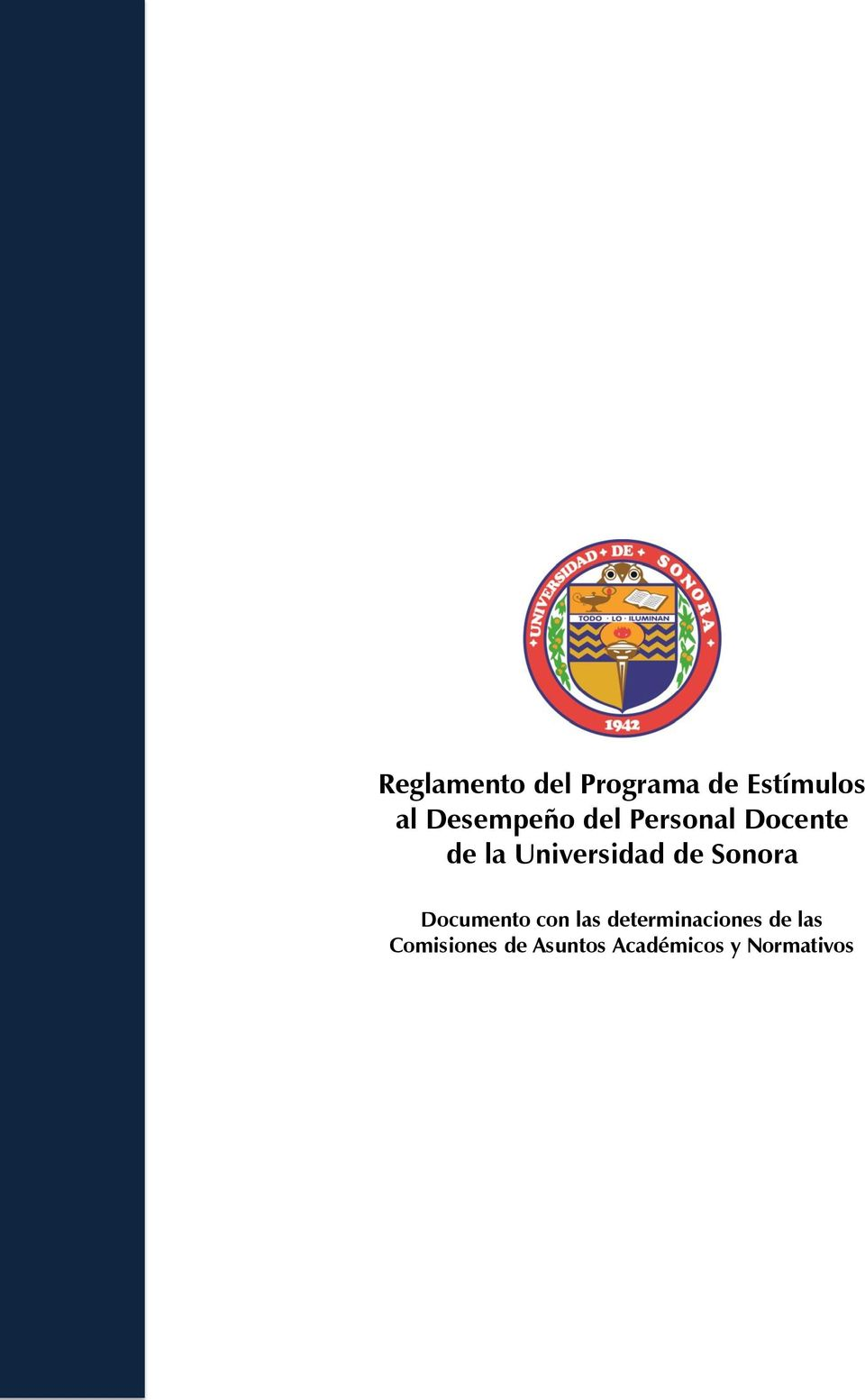 Universidad de Sonora Documento con las