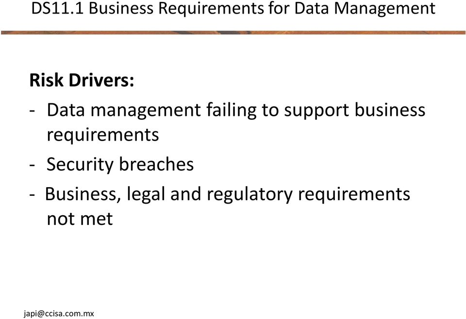 support business requirements - Security