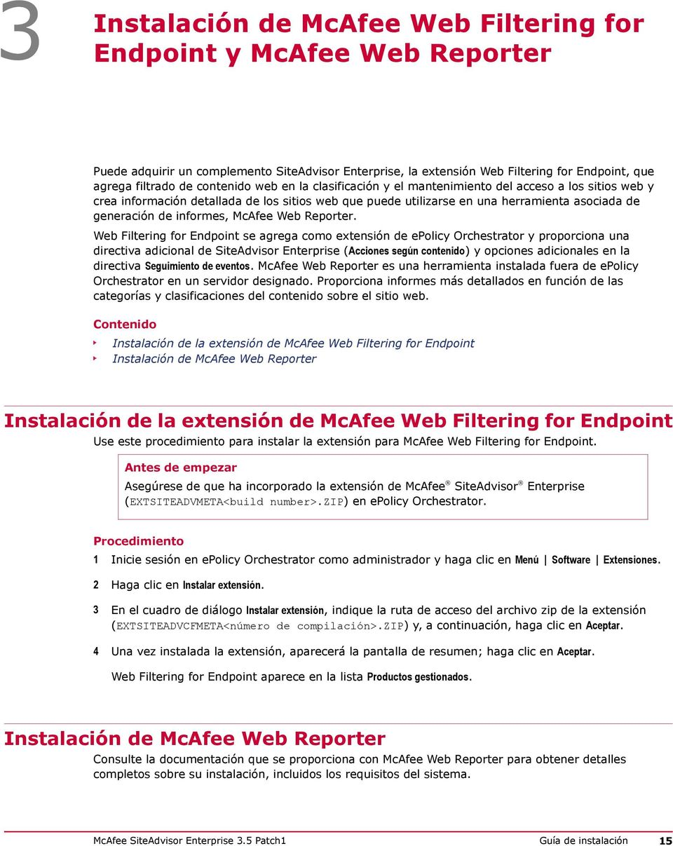 informes, McAfee Web Reporter.