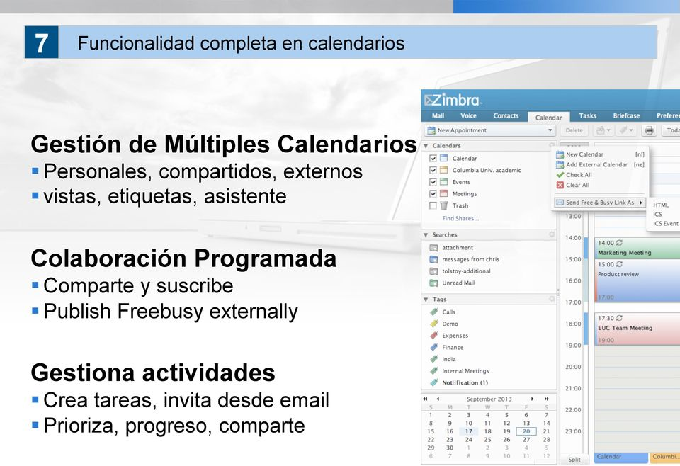 Colaboración Programada Comparte y suscribe Publish Freebusy externally