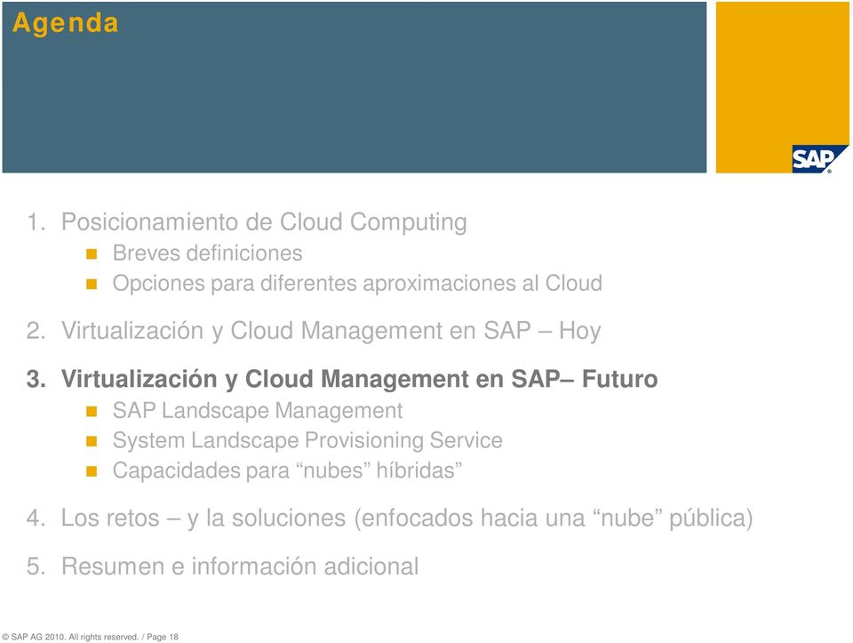 Virtualización y Cloud Management en SAP Hoy 3.