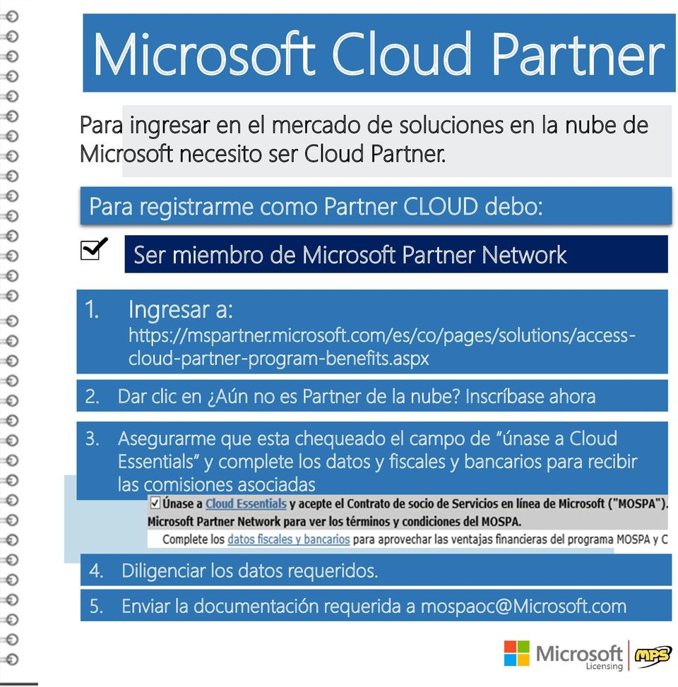 com/es/co/pages/solutions/accesscloud-partner-program-benefits.aspx 2. Dar clic en Aún no es Partner de la nube? Inscríbase ahora 3.