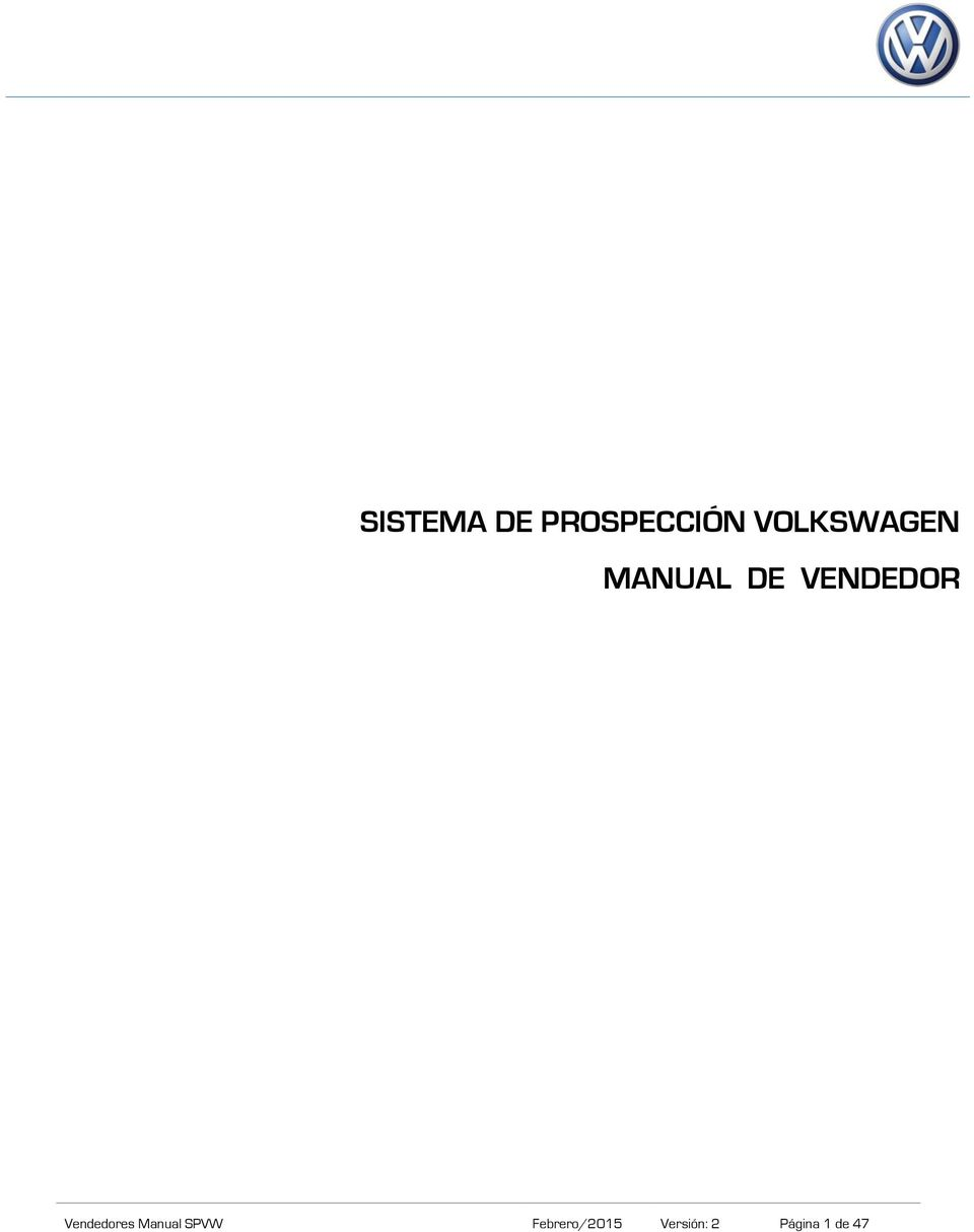 VENDEDOR Vendedores Manual