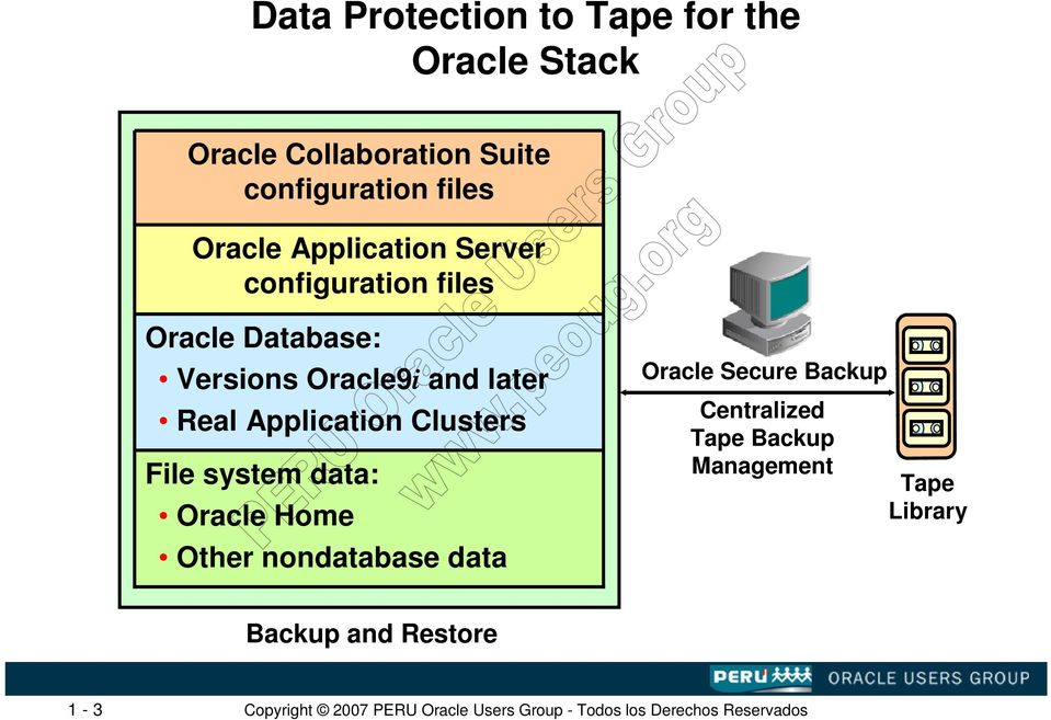 and later Real Application Clusters File system data: Oracle Home Other nondatabase data