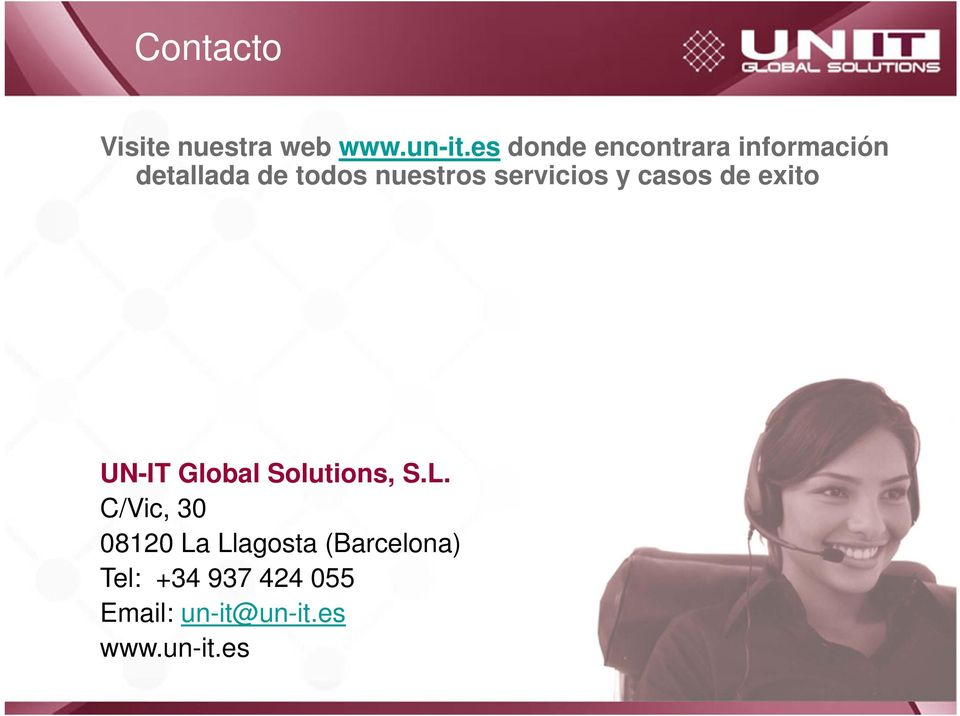 servicios y casos de exito UN-IT Global Solutions, S.L.