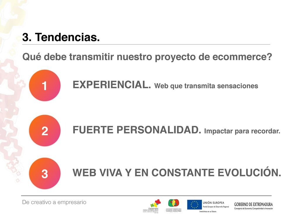ecommerce? 1 EXPERIENCIAL.