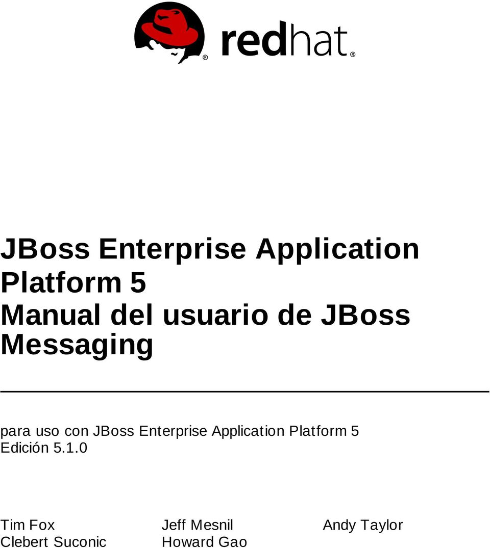 Enterprise Application Platform 5 Edición 5.1.
