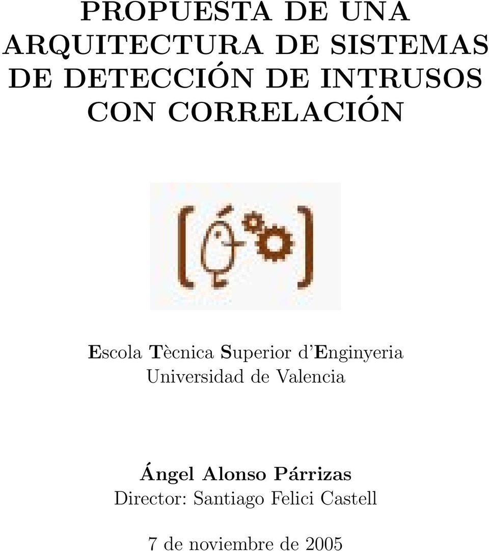 Enginyeria Universidad de Valencia Ángel Alonso