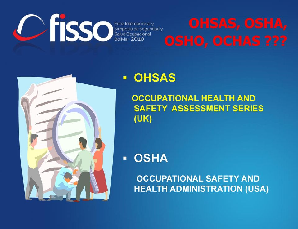 SAFETY ASSESSMENT SERIES (UK) OSHA