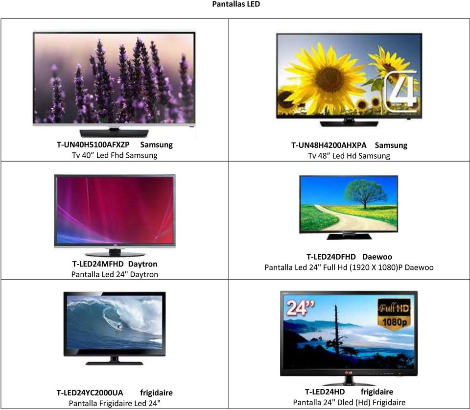 "T-LED24DFHD Daewoo Pantalla Led 24"" Full Hd (1920 X 1080)P Daewoo T-LED24YC2000UA"