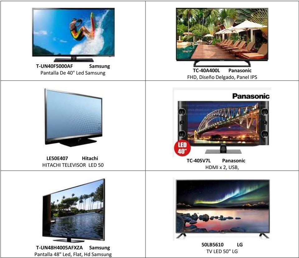TELEVISOR LED 50 TC-40SV7L Panasonic HDMI x 2, USB,