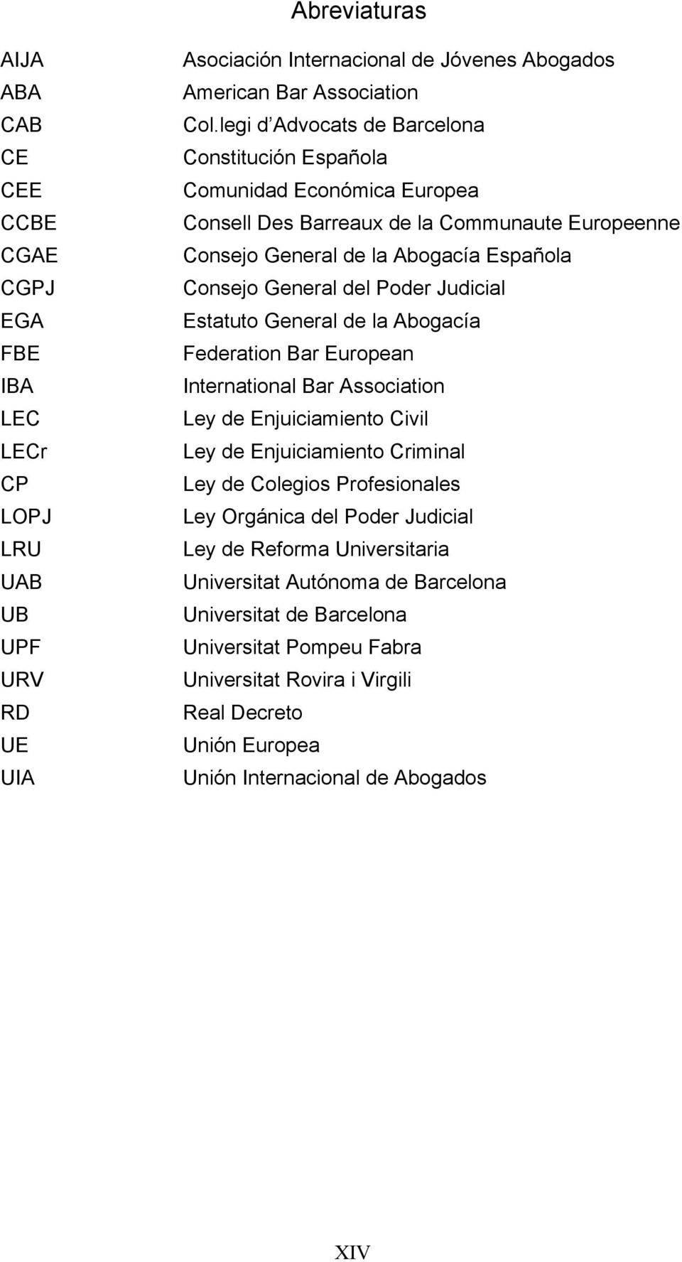 Judicial Estatuto General de la Abogacía Federation Bar European International Bar Association Ley de Enjuiciamiento Civil Ley de Enjuiciamiento Criminal Ley de Colegios Profesionales Ley Orgánica