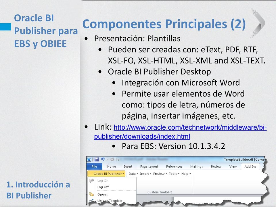 Oracle BI Publisher para EBS y OBIEE - PDF