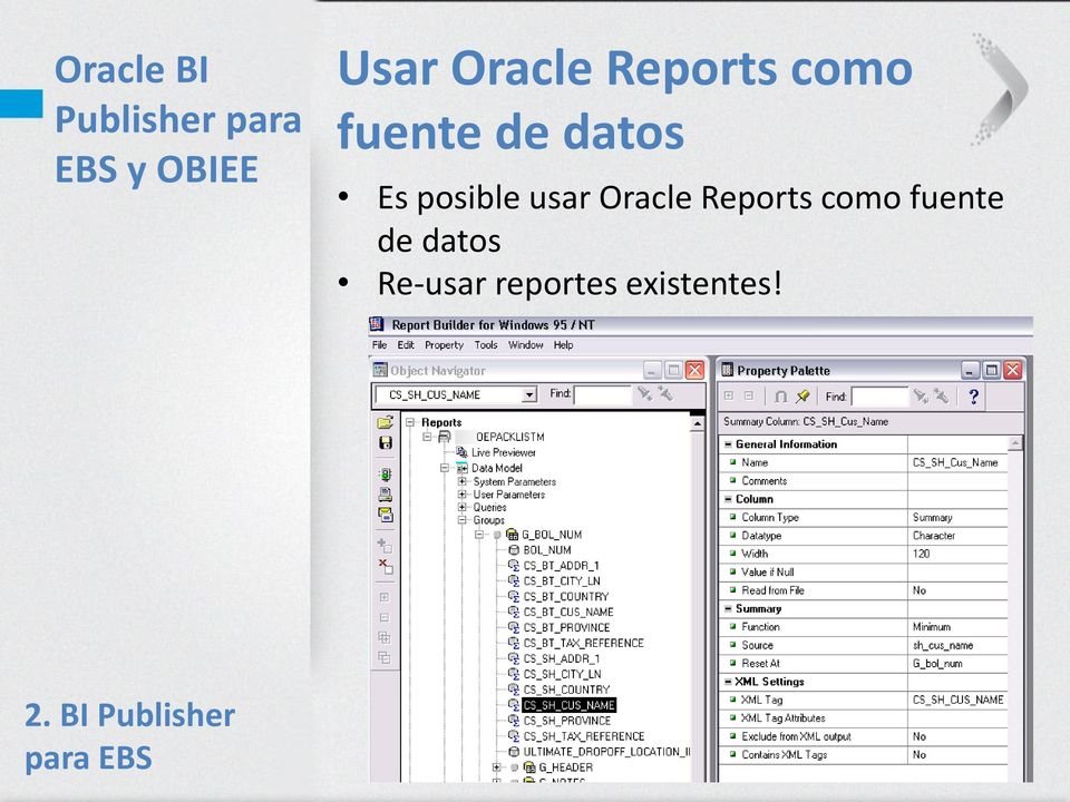 como fuente de datos Re-usar