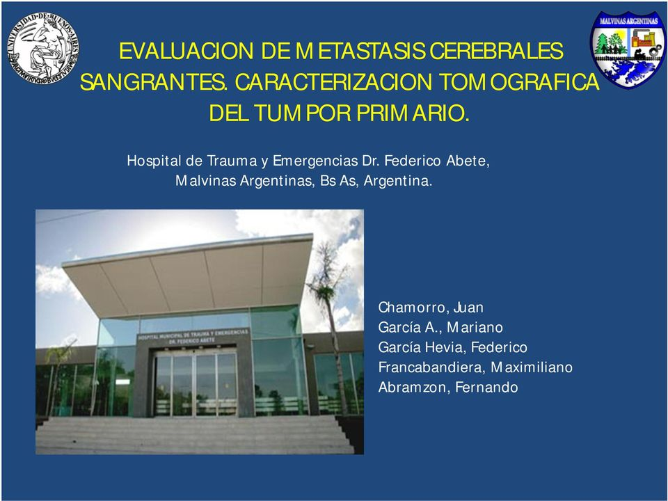 Hospital de Trauma y Emergencias Dr.
