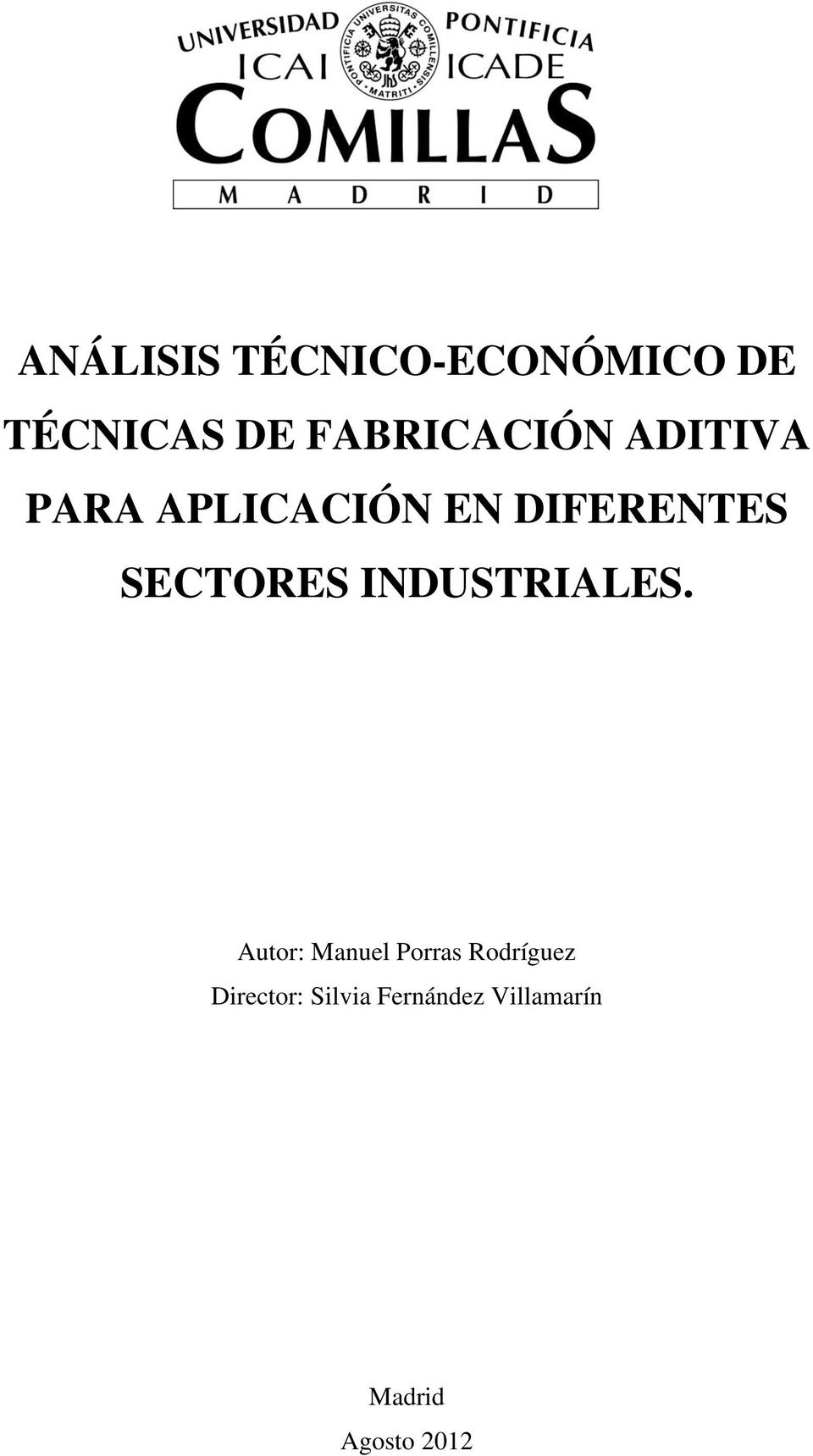SECTORES INDUSTRIALES.