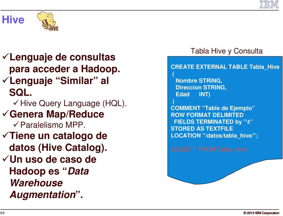 Un uso de caso de Hadoop es Data Warehouse Augmentation.