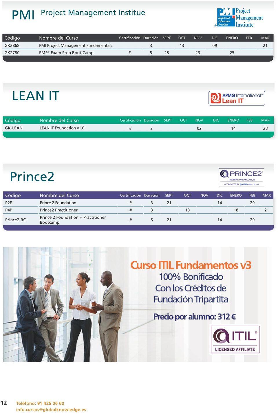 0 # 2 02 14 28 Prince2 P2F Prince 2 Foundation # 3 21 14 29 P4P Prince2 Practitioner # 3 13