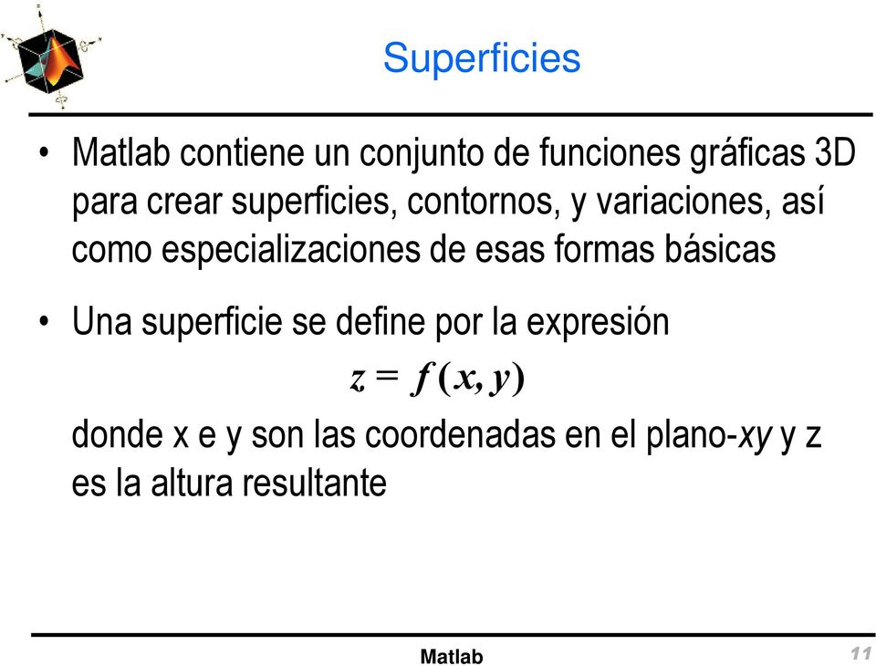 Gr ficos 3d en matlab pdf - Definition de superficie ...