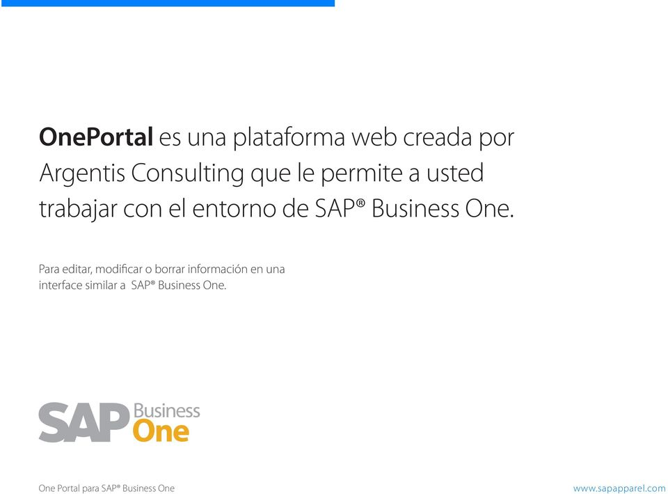 entorno de SAP Business One.