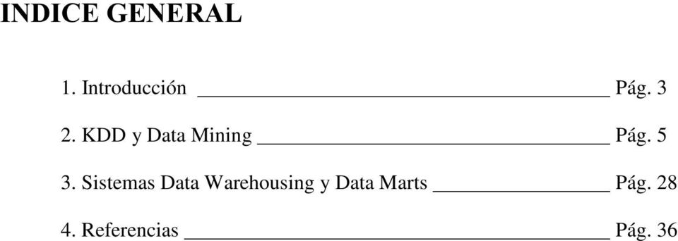 Sistemas Data Warehousing y