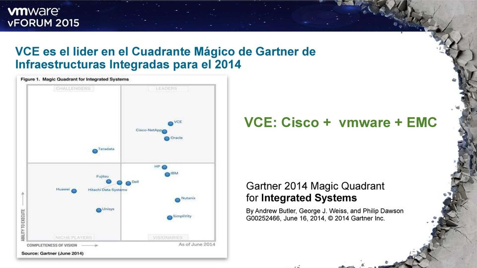 Gartner 2014 Magic Quadrant for Integrated Systems By Andrew