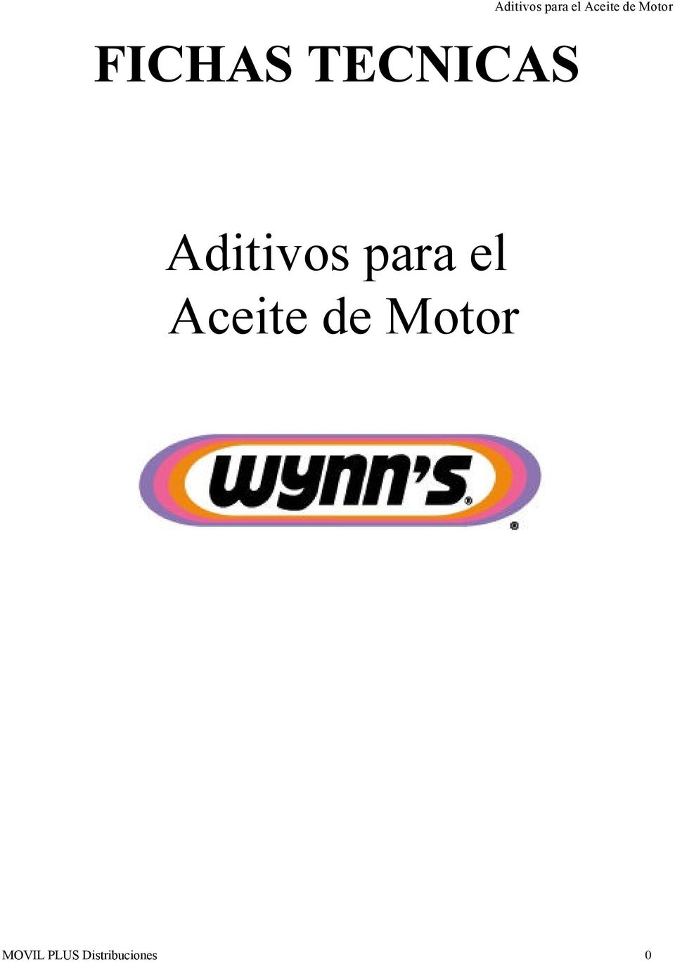 Aditivos  MOVIL PLUS