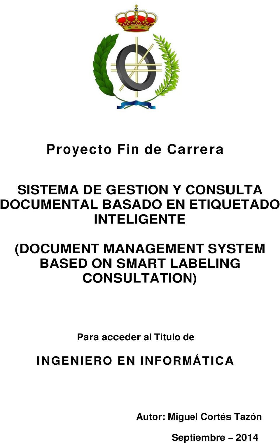 MANAGEMENT SYSTEM BASED ON SMART LABELING CONSULTATION) Para