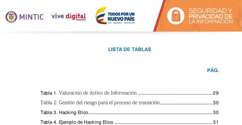 Hacking Etico... 30 Tabla 4.