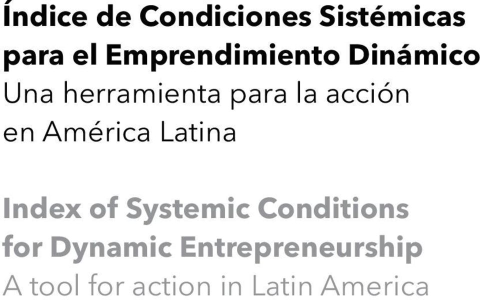 acción en América Latina Index of Systemic