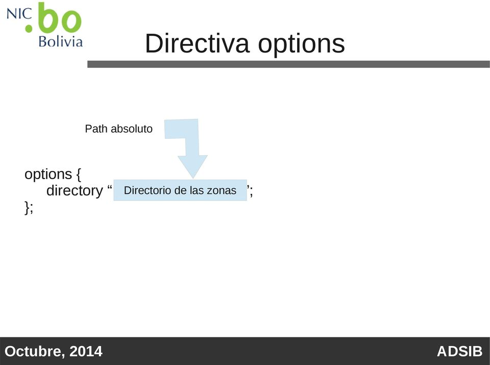 options { directory